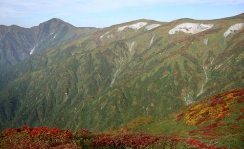 飯豊連峰 紅葉